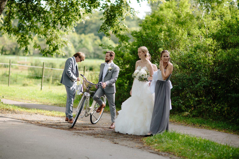 Bryllupsfotografering sykkel, Bryllup i Moss, Jeløy, Norge