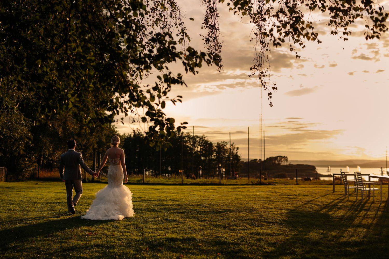 solnedgang, sykkel, Bryllupsfotografering i Moss, Jeløy, Norge