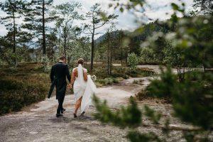Martine og Christers bryllup – Bragernes kirke og Fredfoss konferansesenter