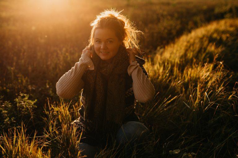 Fotograf i solnedgang ;)