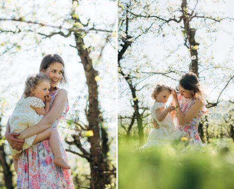 Familie, vårblomster, barnefotografering, familiefotografering, babyfotografering - 4